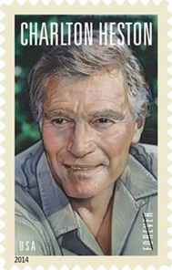 Charlton Heston stamp