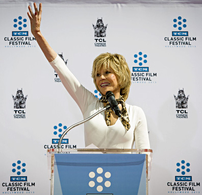 Jane Fonda speaks
