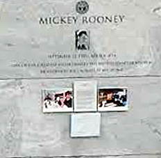 Mickey Rooney's burial site