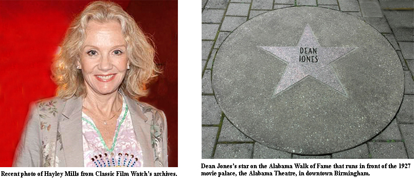 Hayley Mills, Dean Jones Walk of Fame Star